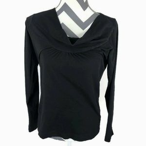 Theory Cowl Neck Top Stretch Cotton